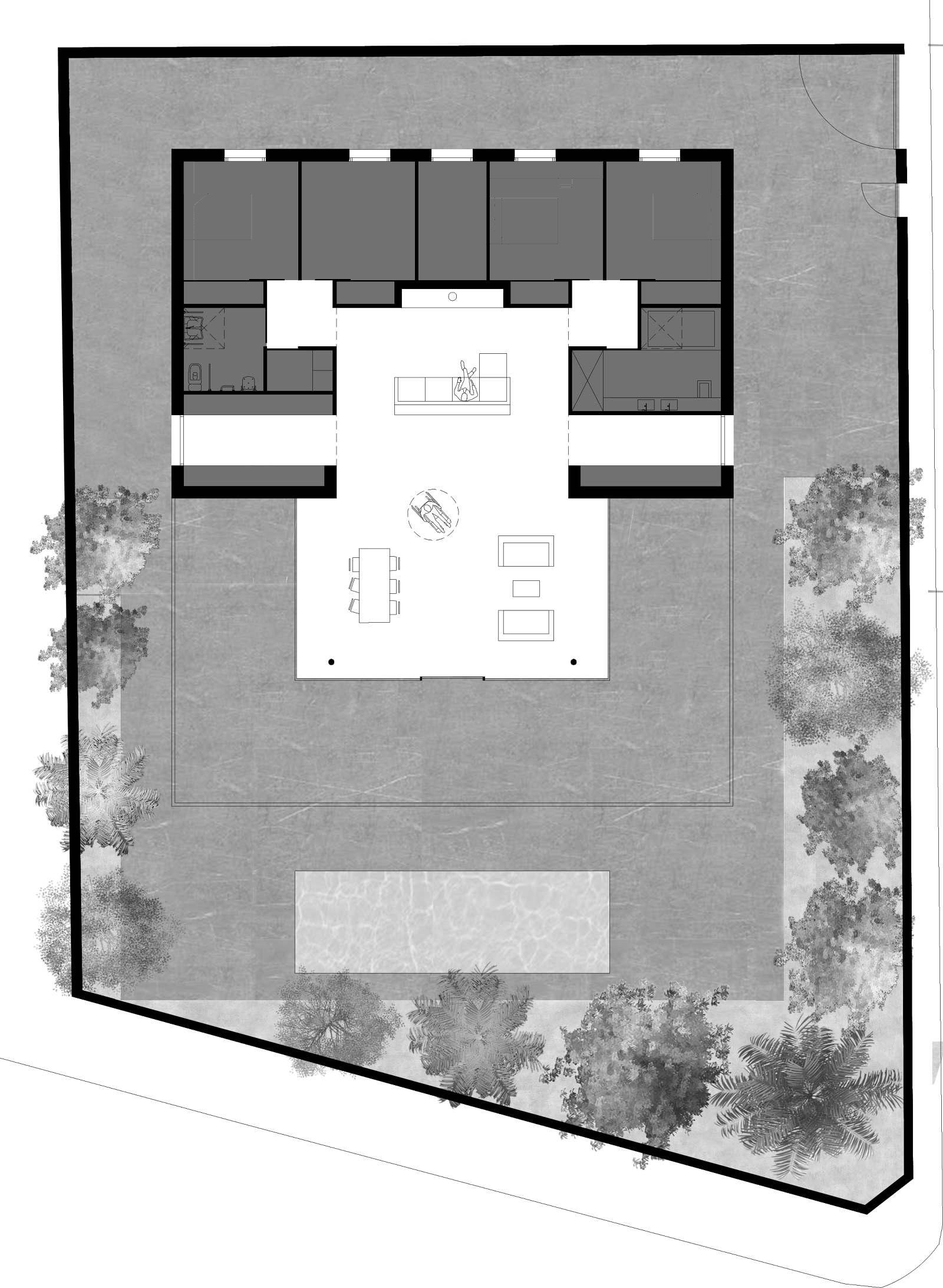 Planta dibujo 2 - La Casa de Jesús - Estudio de arquitectura RRR